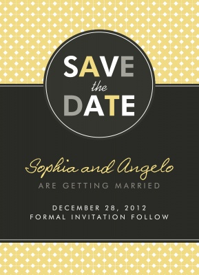 Save the Date Cards, Sweet Circle Date Design