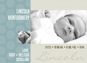 Birth Announcements for Boys - Sweet Circles Blue