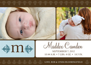 Birth Announcements for Boys - Sky Blue Initial