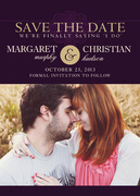 Photo Save the Date Cards - Mulberry Wine Date