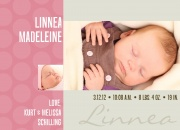Pink Moment -  Birth Announcements for Girls