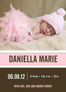 Birth Announcements for Girls - Pink Cloud