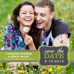 Natural Date -  Save the Date Cards for Wedding