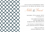 Sophisticate Print -  Engagement Party Invites