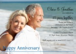 Clear View -  Wedding Anniversary Invitations