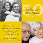 Golden Years -  Wedding Anniversary Invitations