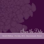 Heliotrope Love Date -  Save the Date Cards for Wedding