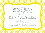 Sunflower Window Date -  Save the Date Cards for Wedding