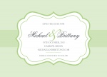 Mint Label Date - Save the Date Cards