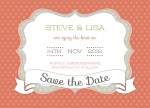 Peach Swiss Date - Save the Date Cards