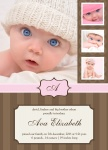 Strawberry Truffle -  Baby Girl Birth Announcements
