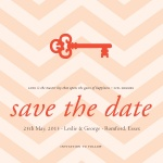 Love n'Key Date -  Save the Date Cards for Wedding