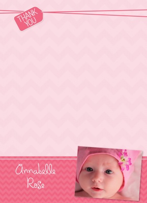 Baby Thank You Cards, Special Delivery Pink Design