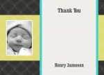 Quilt Boy -  Personalised Baby Thank You Cards