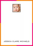 Chock A Block Orange - Baby Thank You Cards