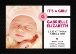 Stitch In Time Pink - Baby Girl Announcement Cards