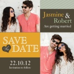 Love Blocks Date - Save the Date Cards