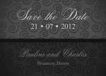 Silver Screen Date -  Save the Date Cards for Wedding