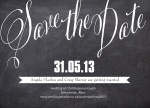 Chalkboard Date -  Save the Date Cards for Wedding