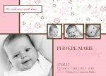 Lil Flower Pink -  Baby Girl Birth Announcements