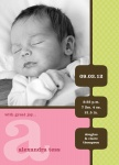 Miss Modern Mobile - Baby Girl Announcement Cards