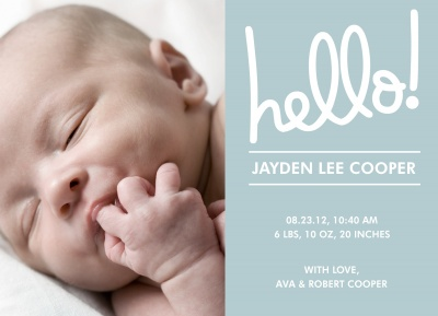 Birth Announcements, Morning Sunshine Design