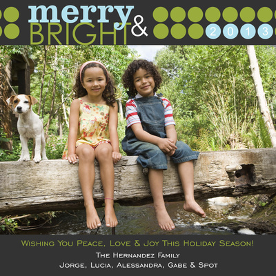 Personalized Holiday Cards, Me & Merry Bark Design