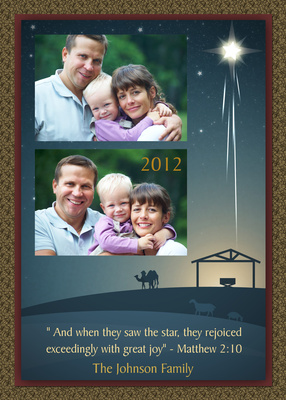 Personalized Holiday Cards, The Christmas Star Design