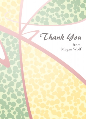 Thank You Cards for Women, Speckle Splash Design