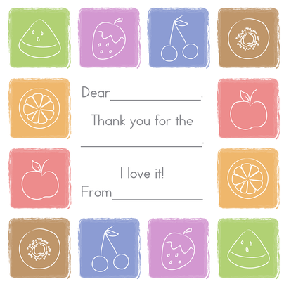 Kids Thank You Cards, Tasty Treats Design