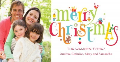 Personalized Holiday Cards, Christmas Treats Design