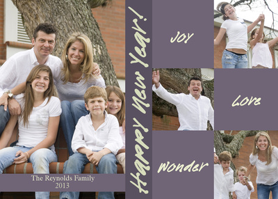 Personalized Holiday Cards, Handwritten New Year Design