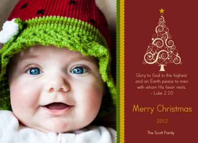 Personalized Holiday Cards, Glory Christmas Design