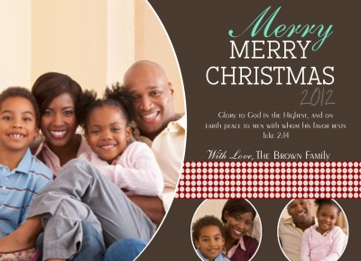 Personalized Holiday Cards, More than Merry Design