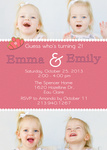 Twin Birthday Party Invitations - Twin Birthday Queens