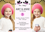 Twin Birthday Invitations - Double Sweet Bee Birthday