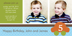 Photo Twin Birthday Invitations - Double Cutie Cars