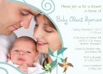 Baby Shower Invitations - Family Aqua Pinwheels