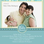 Photo Baby Shower Invites - Baby's Aquitaine Stripe