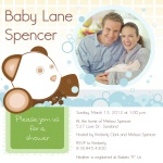 Photo Baby Shower Invitations - Family Bear