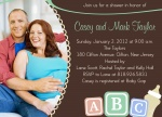 Photo Baby Shower Invites - Bottles 'n Blocks Too