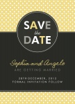Sweet Circle Date -  Save the Date Cards for Wedding