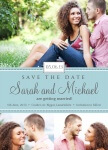 Blue Swiss Date -  Save the Date Cards for Wedding