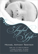Baby Boy Announcements - Joyful Gift Blue