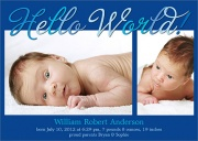 Birth Announcements for Boys - Blue Chip