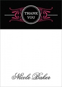 Birthday Thank You Notes - Filigree Flirt
