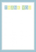 Thank You Notes - Baby Boy Blocks