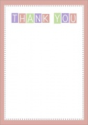 Baby Girl Blocks - Baby Thank You Cards