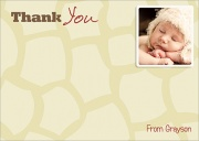 Baby Giraffe -  Baby Thank You Notes