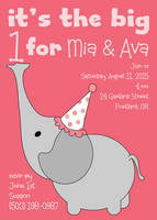 Photo Twin Birthday Invitatio - Their Big Day